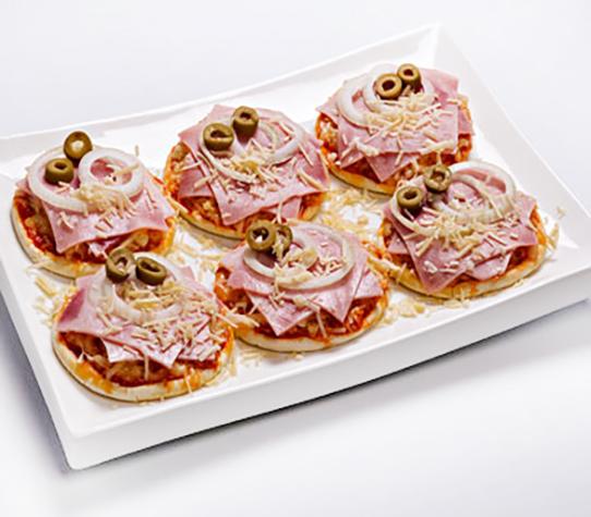 Minipizzas e Carnes